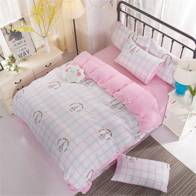 Washed Cotton Four-piece Bedding Set