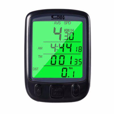 Bicycle LCD Computer Odometer With Backlight Monitor Speed Distance And Riding Time