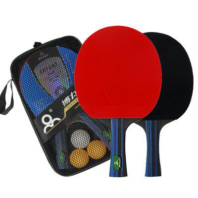 BOLI Advanced 2 PCS Wooden Table Tennis Paddle Trainning Ping Pong Racket With Carry Case