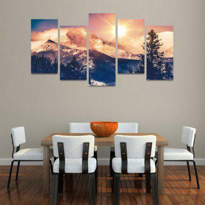 Buy MailingArt FIV135 5 Panels Landscape Wall Art Painting Home Decor Canvas Print, COLORMIX, Home & Garden, Home Decors, Wall Art, Prints for $57.16 in GearBest store
