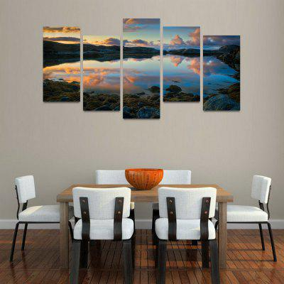 Buy MailingArt FIV144 5 Panels Landscape Wall Art Painting Home Decor Canvas Print, COLORMIX, Home & Garden, Home Decors, Wall Art, Prints for $57.16 in GearBest store