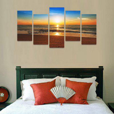 MailingArt FIV0077 5 Panels Seascape Wall Art Painting Home Decor Canvas PrintPrints<br>MailingArt FIV0077 5 Panels Seascape Wall Art Painting Home Decor Canvas Print<br><br>Craft: Print<br>Form: Five Panels<br>Material: Canvas<br>Package Contents: 5 x Print<br>Package size (L x W x H): 82.00 x 32.00 x 12.00 cm / 32.28 x 12.6 x 4.72 inches<br>Package weight: 1.8000 kg<br>Painting: Include Inner Frame<br>Shape: Horizontal Panoramic<br>Style: Natural<br>Subjects: Seascape<br>Suitable Space: Boys Room,Cafes,Corridor,Dining Room,Girls Room,Hotel,Kids Room,Kitchen,Living Room,Office,Study Room / Office
