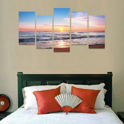 MailingArt FIV0078 5 Panels Seascape Wall Art Painting Home Decor Canvas PrintPrints<br>MailingArt FIV0078 5 Panels Seascape Wall Art Painting Home Decor Canvas Print<br><br>Craft: Print<br>Form: Five Panels<br>Material: Canvas<br>Package Contents: 5 x Print<br>Package size (L x W x H): 82.00 x 32.00 x 12.00 cm / 32.28 x 12.6 x 4.72 inches<br>Package weight: 1.8000 kg<br>Painting: Include Inner Frame<br>Shape: Horizontal Panoramic<br>Style: Natural<br>Subjects: Seascape<br>Suitable Space: Boys Room,Cafes,Corridor,Dining Room,Girls Room,Hotel,Kids Room,Kitchen,Living Room,Office,Study Room / Office