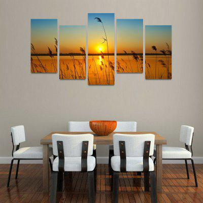 Buy MailingArt FIV0152 5 Panels Landscape Wall Art Painting Home Decor Canvas Print, COLORMIX, Home & Garden, Home Decors, Wall Art, Prints for $57.16 in GearBest store
