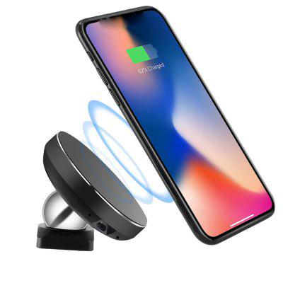 Wireless Car Charger Spedal 2-in-1 Magnetic Vehicle Mount Phone Holder Air Vent Or Dashboard