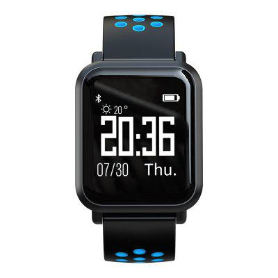 Atongm ATM2018 Bluetooth Smart Watches Waterproof Heart Rate Monitor Activity Fitness Tracker Wearable Blue