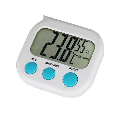Indoor Room LCD Electronic Temperature Humidity Meter Digital Thermometer Hygrometer Weather Station - WHITE
