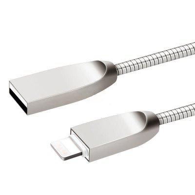 1M 2.4A Fast Charger Zinc Alloy USB Cable for iPhone / iPad