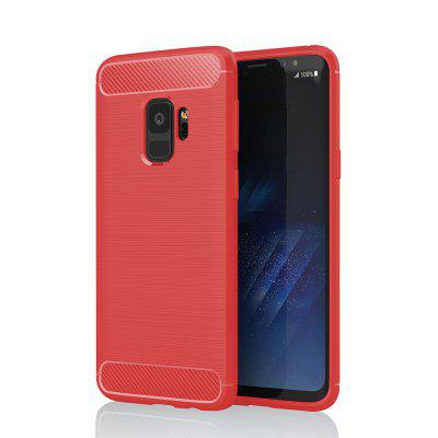JOFLO Phone Cover Case for Samsung Galaxy S9 Plus Brushed skid-proof Carbon Fiber TPU Cases