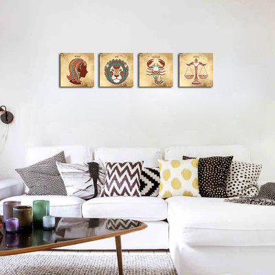 QiaoJiaHuaYuan No Frame Canvas Living Room Sofa Background Constellation Animals Four Pieces of Decorative printPrints<br>QiaoJiaHuaYuan No Frame Canvas Living Room Sofa Background Constellation Animals Four Pieces of Decorative print<br><br>Brand: Qiaojiahuayuan<br>Craft: Print, Print<br>Form: Four Panels, Four Panels<br>Material: Canvas<br>Package Contents: 4 x Print, 4 x Print<br>Package size (L x W x H): 47.00 x 5.00 x 5.00 cm / 18.5 x 1.97 x 1.97 inches, 47.00 x 5.00 x 5.00 cm / 18.5 x 1.97 x 1.97 inches<br>Package weight: 0.2200 kg, 0.2200 kg<br>Painting: Without Inner Frame, Without Inner Frame<br>Product weight: 0.2200 kg, 0.2200 kg<br>Shape: Square, Square<br>Style: Funny, Funny<br>Subjects: Still Life, Still Life<br>Suitable Space: Living Room, Living Room