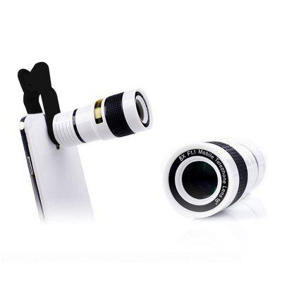 Minismile Multi-coating Glass Universal 8X Zoom Telephoto Camera Lens Shutterbug Necessary with Clip for iPhone X / 8