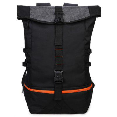 New Men'S Sports Wind Large Capacity Solid Color Backpack
