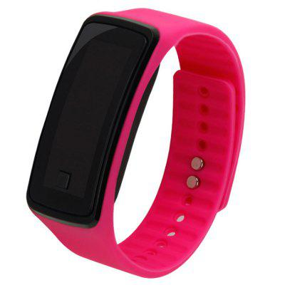 Pulseira De Borracha Unisex Red LED Digital Display Sports Relógio De Pulso Presente