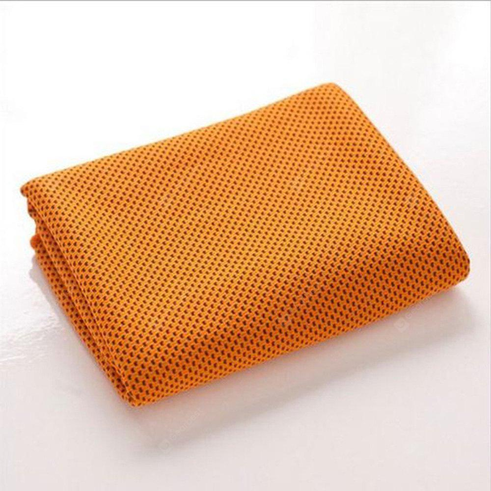 Polyester Fabric Knitted Sport Magic Ice Cooling Towel for Keeping Body Cooling ORANGE