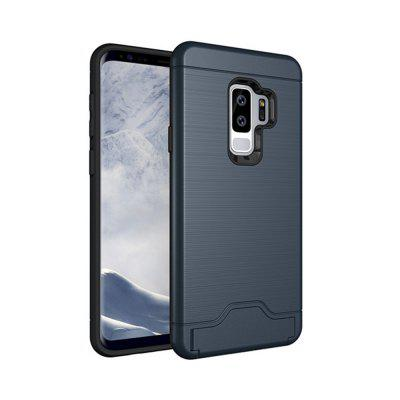 Cover Case for Samsung Galaxy S9 Plus Armor Soft TPU and PC Rubber Card Slot Kickstand Back