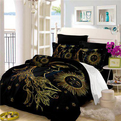 Active Printing and Dyeing Sun Moon Series Bedding Set Three and Four Pieces AS25