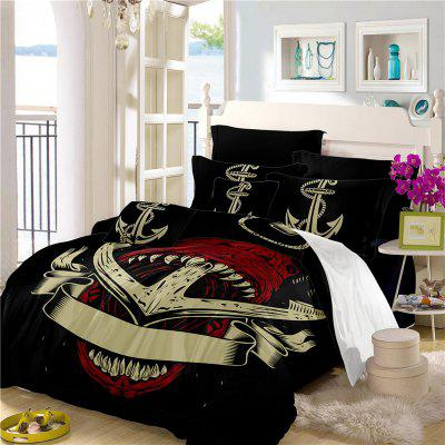 Sea Island Shark Ship Anchor 3D Series Bedding Set Three and Four Pieces AS26