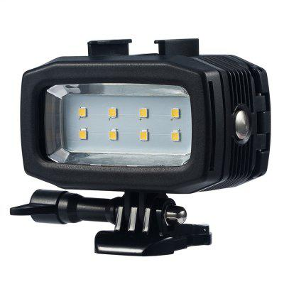 Diving Underwater Waterproof Video LED Light with Rechargeable  Battery for Gopro Sports Camera