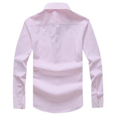 Autumn Men's Pure Color Fashion and Leisure Bottoming Shirt