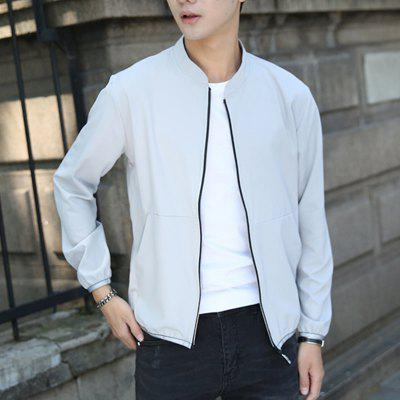 Spring and Autumn Mens Pure Color Casual JacketMens Jackets &amp; Coats<br>Spring and Autumn Mens Pure Color Casual Jacket<br><br>Clothes Type: Jackets<br>Collar: Stand Collar<br>Material: Polyester, Spandex<br>Package Contents: 1xCoat<br>Season: Spring, Fall<br>Shirt Length: Long<br>Sleeve Length: Long Sleeves<br>Style: Fashion<br>Weight: 0.4000kg
