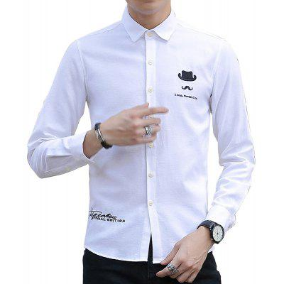 Spring and Autumn Men's Pure Color Fashion Shirt