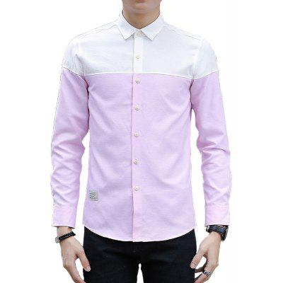 Spring and Autumn Men's Pure and Fashionable Casual Shirt