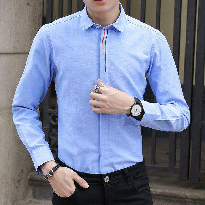 Spring and Autumn Mens Pure Color Fashion Shirt Professional ClothesMens Shirts<br>Spring and Autumn Mens Pure Color Fashion Shirt Professional Clothes<br><br>Collar: Turn-down Collar<br>Material: Cotton, Polyester<br>Package Contents: 1xShirt<br>Shirts Type: Formal Shirts<br>Sleeve Length: Full<br>Weight: 0.4500kg