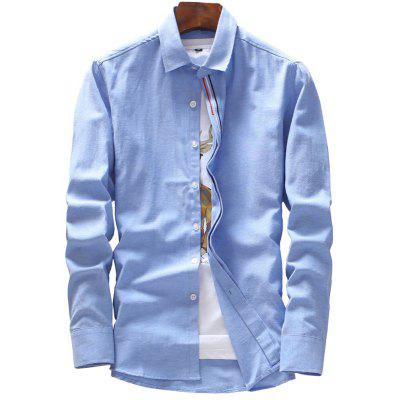 Spring and Autumn Men's Pure Color Fashion Shirt Professional Clothes