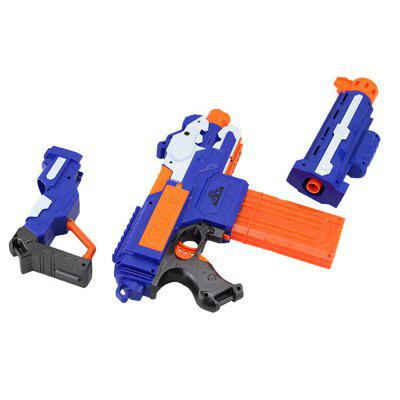Electric Bursts Soft Bullet Gun Toy ChildOutdoor Fun &amp; Sports<br>Electric Bursts Soft Bullet Gun Toy Child<br><br>Age: 5-7 Years<br>Applicable gender: Boys<br>Battery Type: 4 x 1.5V AA battery<br>Design Style: Military<br>Features: Sports<br>Gender: Boys<br>Material: ABS<br>Package Contents: 1 x Toy Gun, 4 x AA Battery<br>Package size (L x W x H): 40.00 x 7.00 x 22.00 cm / 15.75 x 2.76 x 8.66 inches<br>Package weight: 0.3000 kg<br>Product size (L x W x H): 77.00 x 7.00 x 22.00 cm / 30.31 x 2.76 x 8.66 inches<br>Small Parts: Yes<br>Type: Outdoor Toys<br>Washing: No