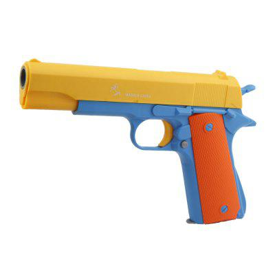 Children Plastic Toy Semi-automatic Pistol Toy with Luminous Soft Bullets