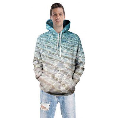 Men 3D Beach Weave Hoodies