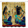 Ancient Egyptian Women Polyester Shower Curtain Bathroom  High Definition 3D Printing Water-Proof - COLORMIX