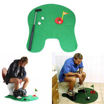 Gearbest Mini Golf Set Toilet Golf Putting Green Novelty Game