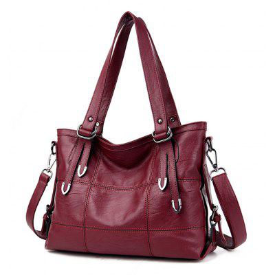 Tote Fashion Shoulder Messenger Simple HandbagHandbags<br>Tote Fashion Shoulder Messenger Simple Handbag<br><br>Closure Type: Zipper<br>Embellishment: None<br>Exterior: None<br>Gender: For Women<br>Handbag Type: Totes<br>Lining Material: PU<br>Main Material: PU<br>Number of Handles / Straps: Single<br>Package Contents: 1 x Bag<br>Package size (L x W x H): 36.00 x 14.00 x 26.00 cm / 14.17 x 5.51 x 10.24 inches<br>Package weight: 0.7000 kg<br>Pattern Type: Solid<br>Product size (L x W x H): 35.00 x 13.00 x 25.00 cm / 13.78 x 5.12 x 9.84 inches<br>Product weight: 0.6600 kg<br>Shape: Casual Tote<br>Style: Fashion
