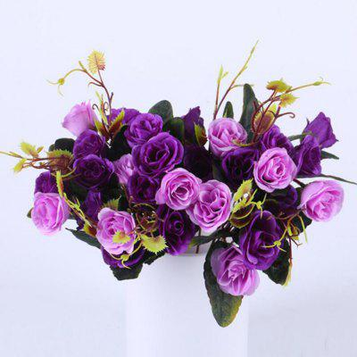 Silk Flowers Sweet Natural Style Vivid Artificial Flowers 2pcs