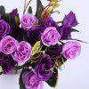 Silk Flowers Sweet Natural Style Vivid Artificial Flowers 2pcs - PURPLE