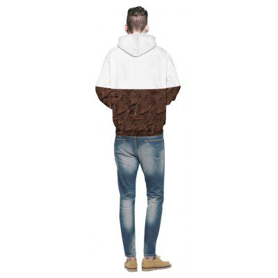 Chocolate Digital Printing HoodieMens Hoodies &amp; Sweatshirts<br>Chocolate Digital Printing Hoodie<br><br>Material: Cotton<br>Package Contents: 1 x Hoodie<br>Shirt Length: Regular<br>Sleeve Length: Full<br>Style: Fashion<br>Weight: 0.4800kg