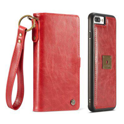 CaseMe for iPhone 8 Plus/ 7 Plus Wallet Case with Detachable Slim TPU PC Leather Cover Hand Strap for Easily Taking