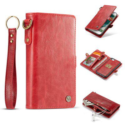 CaseMe for iPhone 8/ 7 Leather Wallet Folio Book Case Cover with 7 Card Slot ID Holder Magnetic Closure Detachable Cover