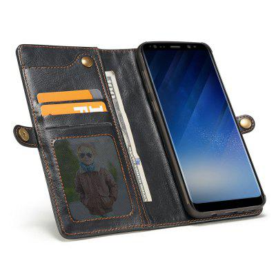 CaseMe for Samsung Galaxy S8 Purse Leather Wrist Strap Wallet Detachable Magnetic Buckle Case with 7 ID SlotsSamsung S Series<br>CaseMe for Samsung Galaxy S8 Purse Leather Wrist Strap Wallet Detachable Magnetic Buckle Case with 7 ID Slots<br><br>Brand: CaseMe<br>Color: Black,Red,Coffee<br>Features: Back Cover, Full Body Cases, Bumper Frame, With Credit Card Holder, Button Protector, Anti-knock<br>Material: PC, TPU, PU Leather, Metal<br>Package Contents: 1 x Phone Case<br>Package size (L x W x H): 15.80 x 8.60 x 2.60 cm / 6.22 x 3.39 x 1.02 inches<br>Package weight: 0.1640 kg<br>Product size (L x W x H): 15.70 x 8.50 x 2.50 cm / 6.18 x 3.35 x 0.98 inches<br>Product weight: 0.1540 kg<br>Style: Leather, Retro