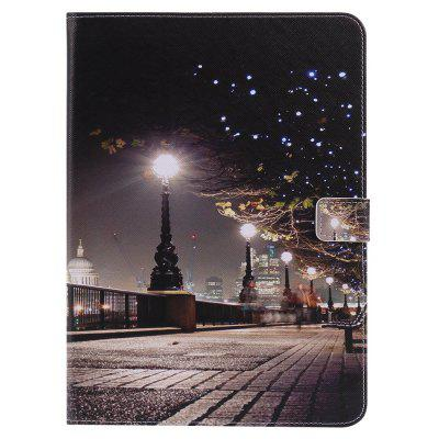 9.7 inch Three-fold Tablet Computer Leather Case Dormancy Painted Cartoon Shell Card Protection Shell for iPad5