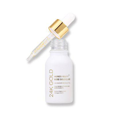 HERES B2UTY 24K Gold Infused Beauty Oil Primer Foundation Rich in Vitamin A and EFace Makeup<br>HERES B2UTY 24K Gold Infused Beauty Oil Primer Foundation Rich in Vitamin A and E<br><br>Feature: Nutritious<br>Formulation: Liquid<br>Item Type: Primer<br>Net Weight: 15ml<br>Package Content: 1 ? 24k Gold Essence<br>Package size (L x W x H): 3.20 x 3.00 x 9.30 cm / 1.26 x 1.18 x 3.66 inches<br>Package weight: 0.0800 kg<br>Skin type: All Skin Types<br>Sunblock: Yes