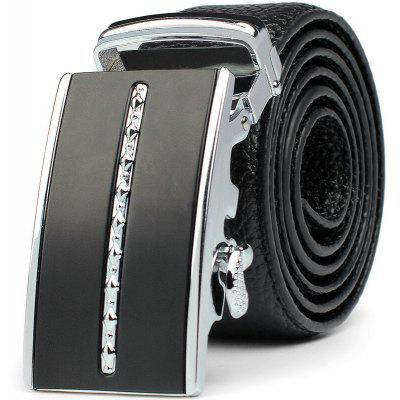 Men's Business Casual Automatic Buckskin Leather Belt