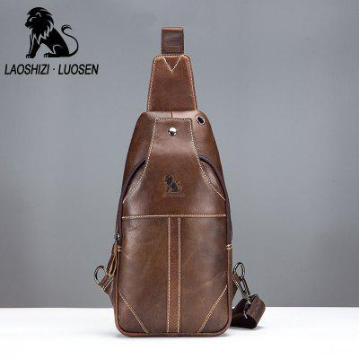 LaoShiZi High Quality Men Genuine Leather Cowhide Casual Sling Chest Back Fashion Cross Body Messenger Shoulder BagCrossbody Bags<br>LaoShiZi High Quality Men Genuine Leather Cowhide Casual Sling Chest Back Fashion Cross Body Messenger Shoulder Bag<br><br>Closure Type: Zipper &amp; Hasp<br>Gender: For Men<br>Handbag Size: Medium(30-50cm)<br>Handbag Type: Crossbody bag<br>Hardness: Soft<br>Interior: Zipper Pouch, Cell Phone Pocket, Interior Slot Pocket<br>Main Material: Genuine Leather<br>Occasion: Versatile<br>Package Contents: 1 x Bag<br>Pattern Type: Solid<br>Style: Casual<br>Weight: 0.7000kg