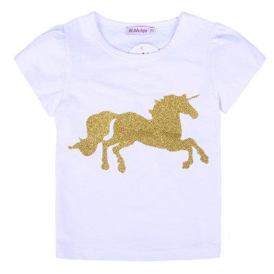 Girls Sets 2PCS Cartoon Horse T-shirt + Skirt Kids Clothing SetGirls clothing sets<br>Girls Sets 2PCS Cartoon Horse T-shirt + Skirt Kids Clothing Set<br><br>Collar: Round Neck<br>Elasticity: Elastic<br>Fabric Type: Worsted<br>Material: Cotton<br>Package Contents: 1 x T-shirt , 1 x Skirt<br>Pattern Type: Character<br>Shirt Length: Regular<br>Sleeve Length: Short<br>Style: Fashion<br>Weight: 0.1400kg