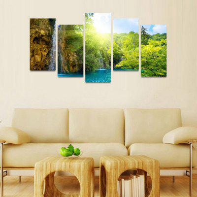 MailingArt FIV157  5 Panels Landscape Wall Art Painting Home Decor Canvas PrintPrints<br>MailingArt FIV157  5 Panels Landscape Wall Art Painting Home Decor Canvas Print<br><br>Craft: Print<br>Form: Five Panels<br>Material: Canvas<br>Package Contents: 5 x Print<br>Package size (L x W x H): 82.00 x 32.00 x 12.00 cm / 32.28 x 12.6 x 4.72 inches<br>Package weight: 1.8000 kg<br>Painting: Include Inner Frame<br>Shape: Horizontal Panoramic<br>Style: Natural<br>Subjects: Landscape<br>Suitable Space: Boys Room,Cafes,Corridor,Dining Room,Girls Room,Hotel,Kids Room,Kitchen,Living Room,Office,Study Room / Office