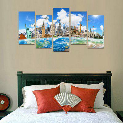 MailingArt F05 5 Panels Landscape Wall Art Painting Home Decor Canvas PrintPrints<br>MailingArt F05 5 Panels Landscape Wall Art Painting Home Decor Canvas Print<br><br>Craft: Print<br>Form: Five Panels<br>Material: Canvas<br>Package Contents: 5 x Print<br>Package size (L x W x H): 82.00 x 32.00 x 12.00 cm / 32.28 x 12.6 x 4.72 inches<br>Package weight: 1.8000 kg<br>Painting: Include Inner Frame<br>Shape: Horizontal Panoramic<br>Style: Natural<br>Subjects: Architecture<br>Suitable Space: Boys Room,Cafes,Corridor,Dining Room,Girls Room,Hotel,Kids Room,Kitchen,Living Room,Office,Study Room / Office