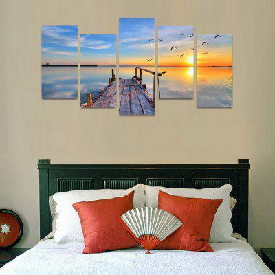 MailingArt FIV170  5 Panels Landscape Wall Art Painting Home Decor Canvas PrintPrints<br>MailingArt FIV170  5 Panels Landscape Wall Art Painting Home Decor Canvas Print<br><br>Craft: Print<br>Form: Five Panels<br>Material: Canvas<br>Package Contents: 5 x Print<br>Package size (L x W x H): 82.00 x 32.00 x 12.00 cm / 32.28 x 12.6 x 4.72 inches<br>Package weight: 1.8000 kg<br>Painting: Include Inner Frame<br>Shape: Horizontal Panoramic<br>Style: Natural<br>Subjects: Seascape<br>Suitable Space: Boys Room,Cafes,Corridor,Dining Room,Girls Room,Hotel,Kids Room,Kitchen,Living Room,Office,Study Room / Office