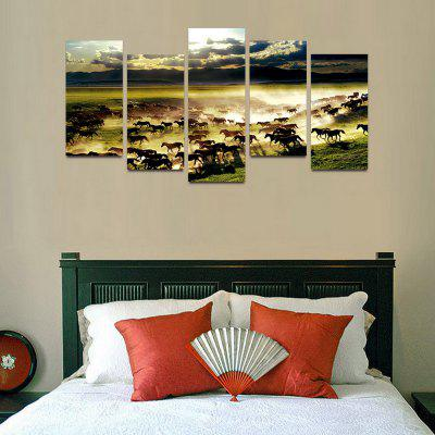 MailingArt F012 5 Panels Landscape Wall Art Painting Home Decor Canvas PrintPrints<br>MailingArt F012 5 Panels Landscape Wall Art Painting Home Decor Canvas Print<br><br>Craft: Print<br>Form: Five Panels<br>Material: Canvas<br>Package Contents: 5 x Print<br>Package size (L x W x H): 82.00 x 32.00 x 12.00 cm / 32.28 x 12.6 x 4.72 inches<br>Package weight: 1.8000 kg<br>Painting: Include Inner Frame<br>Shape: Horizontal Panoramic<br>Style: Natural<br>Subjects: Animal<br>Suitable Space: Boys Room,Cafes,Corridor,Dining Room,Girls Room,Hotel,Kids Room,Kitchen,Living Room,Office,Study Room / Office