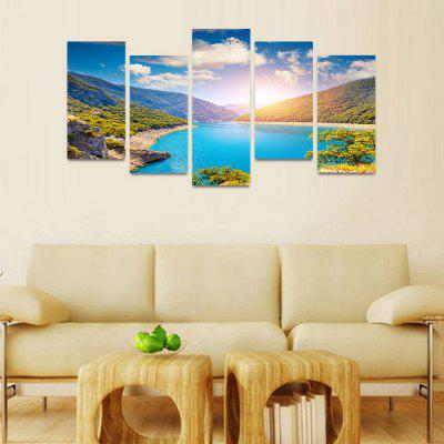 MailingArt FIV180  5 Panels Landscape Wall Art Painting Home Decor Canvas PrintPrints<br>MailingArt FIV180  5 Panels Landscape Wall Art Painting Home Decor Canvas Print<br><br>Craft: Print<br>Form: Five Panels<br>Material: Canvas<br>Package Contents: 5 x Print<br>Package size (L x W x H): 82.00 x 32.00 x 12.00 cm / 32.28 x 12.6 x 4.72 inches<br>Package weight: 1.8000 kg<br>Painting: Include Inner Frame<br>Shape: Horizontal Panoramic<br>Style: Natural<br>Subjects: Landscape<br>Suitable Space: Boys Room,Cafes,Corridor,Dining Room,Girls Room,Hotel,Kids Room,Kitchen,Living Room,Office,Study Room / Office